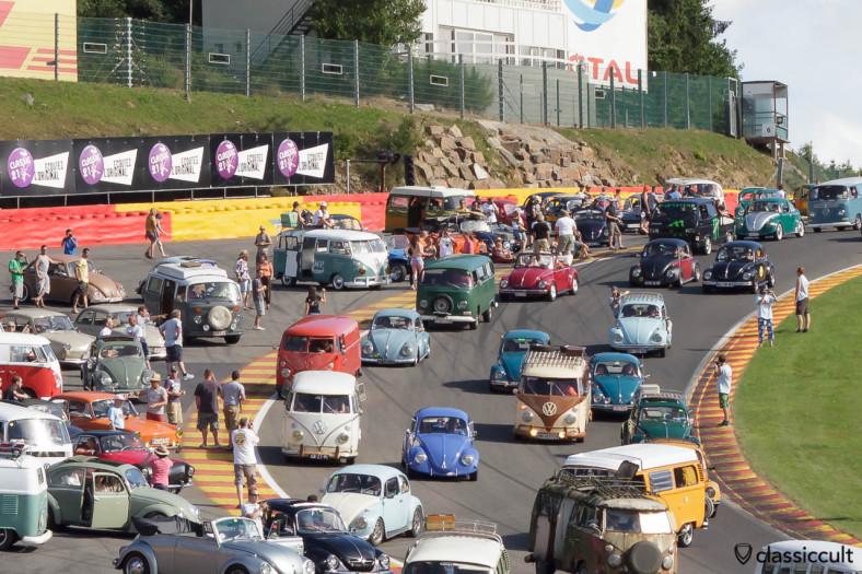 VW Parade Circuit Spa Francorchamps, Le Bug Show 2013