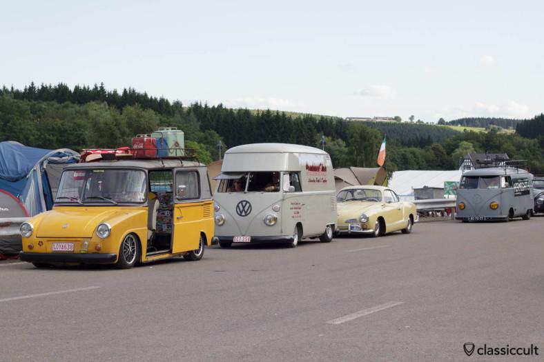 VW Fridolin, CombiCoxShop T1 Bus, slammed Ghia, slammed Airmighty T1 Split SPA 2013