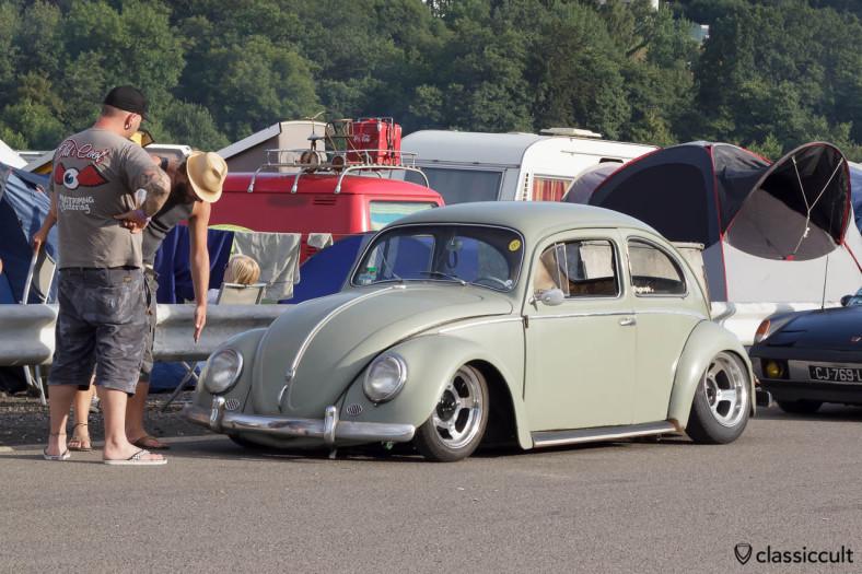 Slammed Beetle at VW Bug Show Spa 2013.