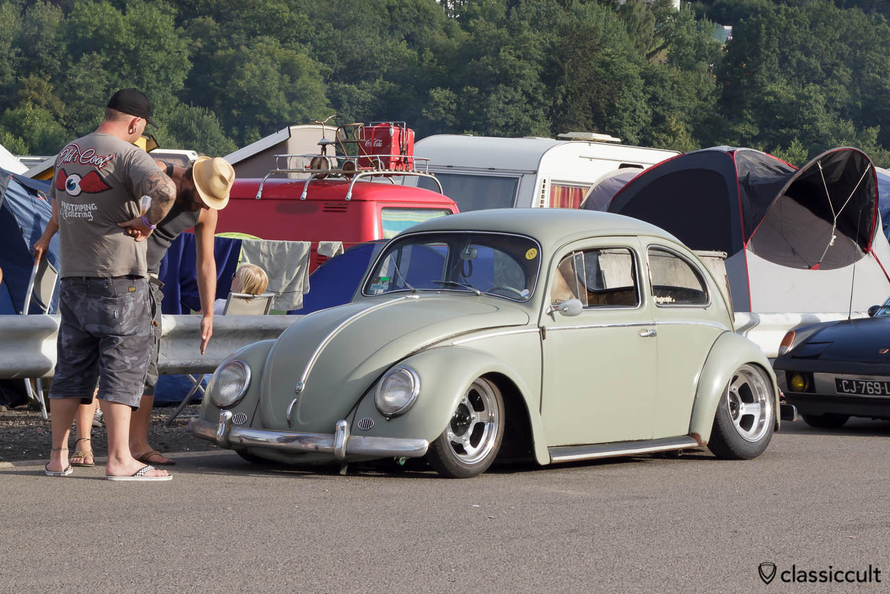 Slammed Beetle at VW Bug Show Spa 2013.