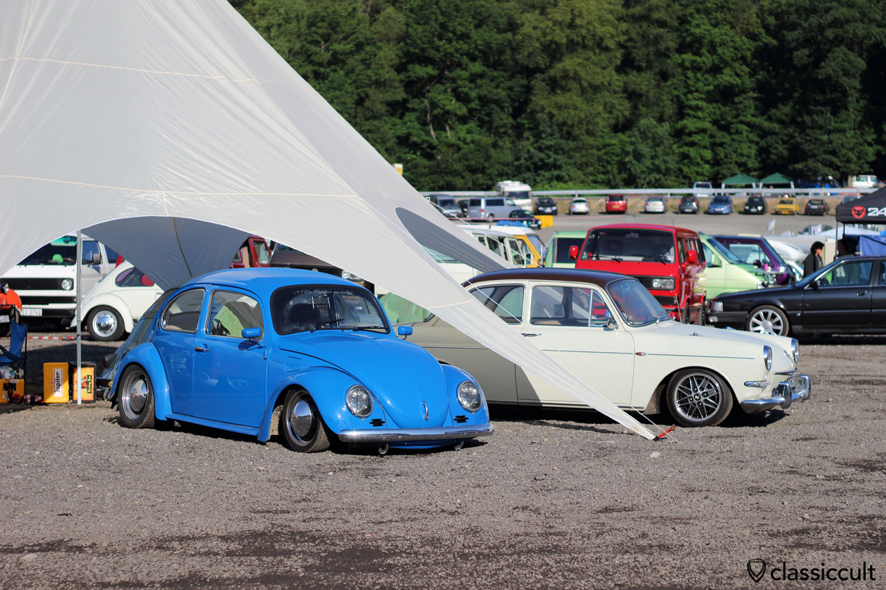 lowered VW Beetle and Type 3 Notch