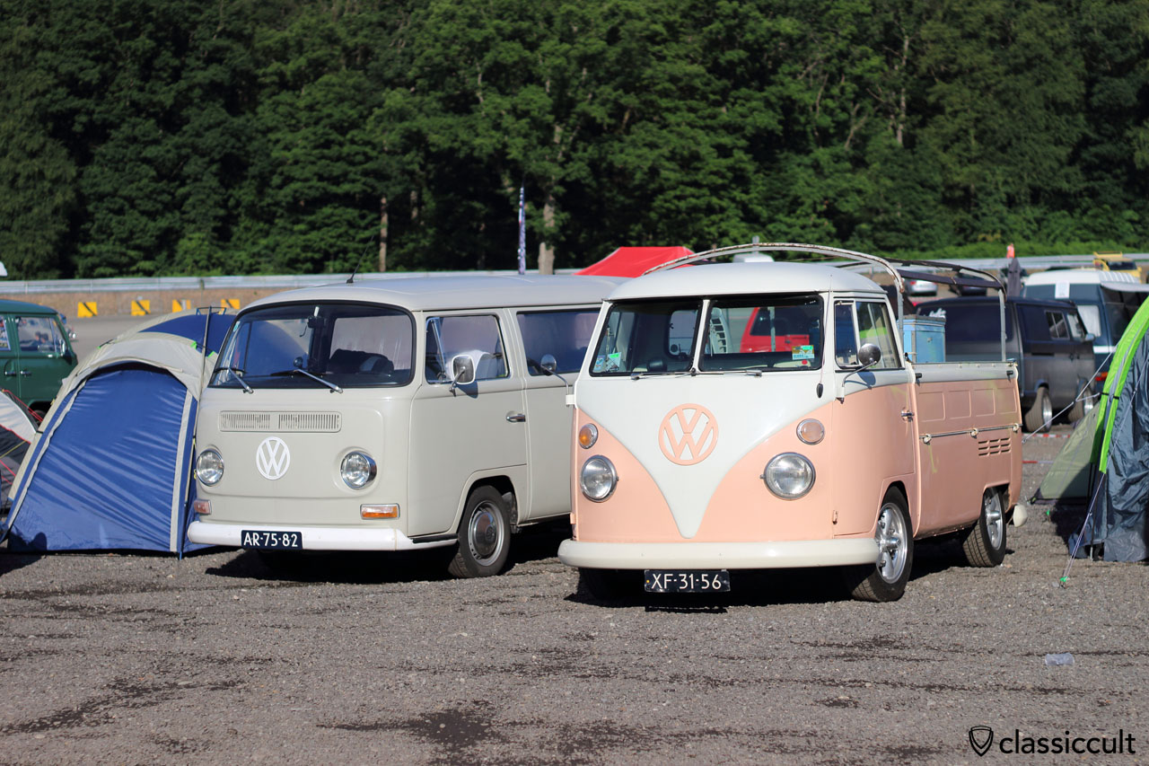 T2a Kombi and T1 Pickup, Spa VW Meeting 2015