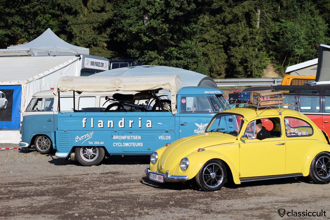 Flandria T1 Pickup, yellow VW Beetle Late Model