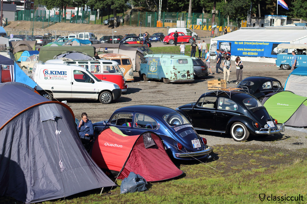Camping near the race track