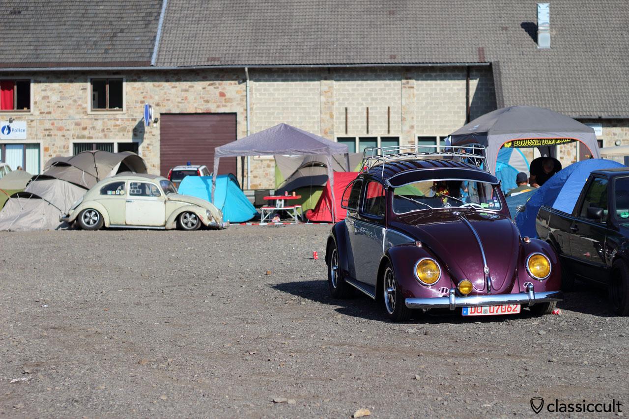 VW Beetle with yellow headlights