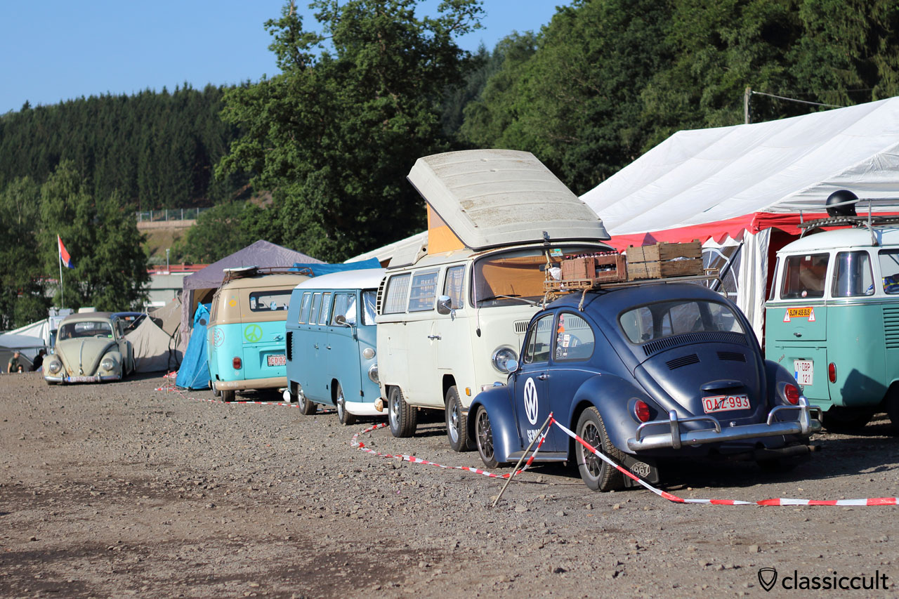 Camping at Bug Show Spa 2015