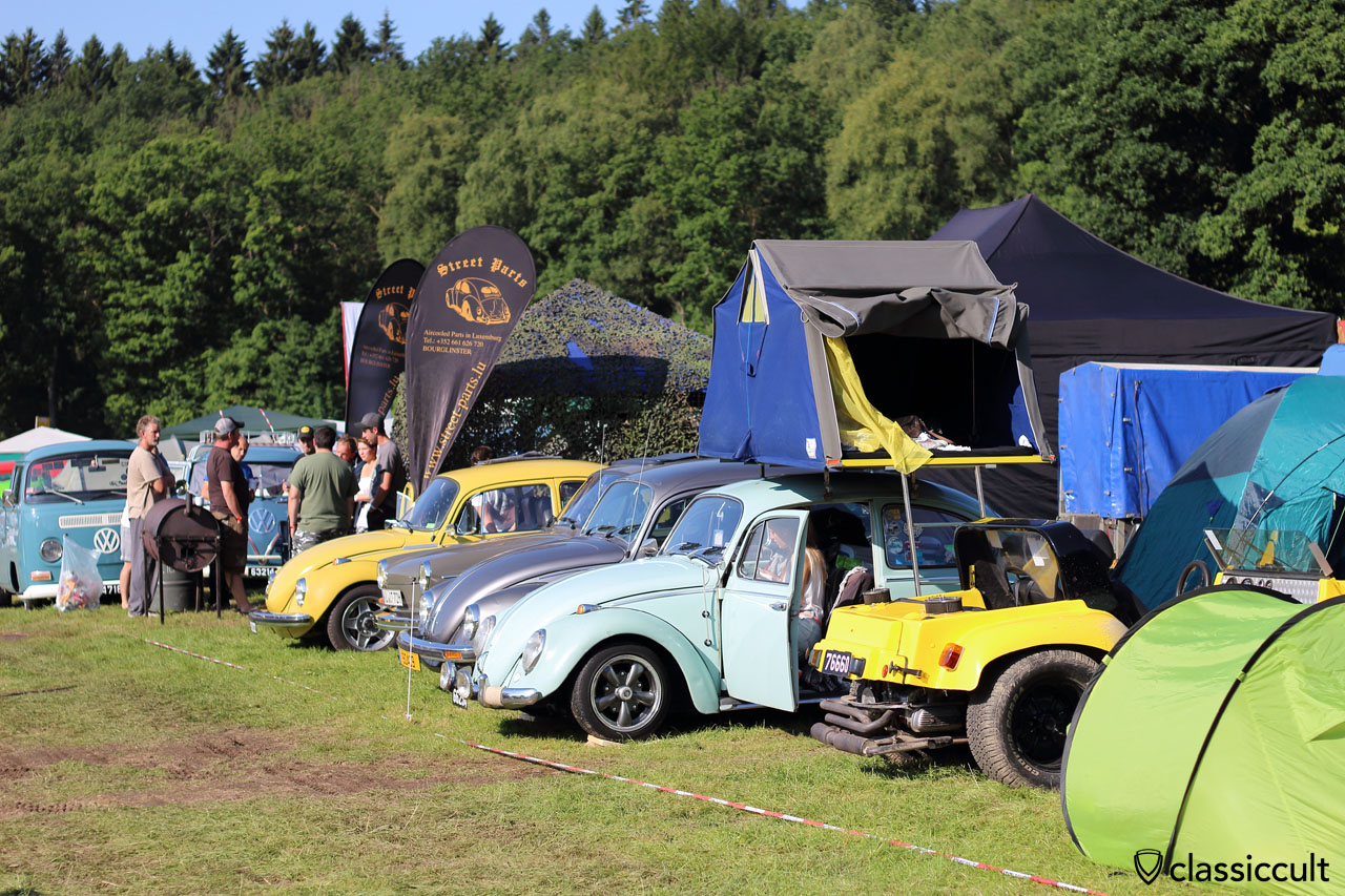 VW Beetle with roof tent, Bug Show 2015 Campground
