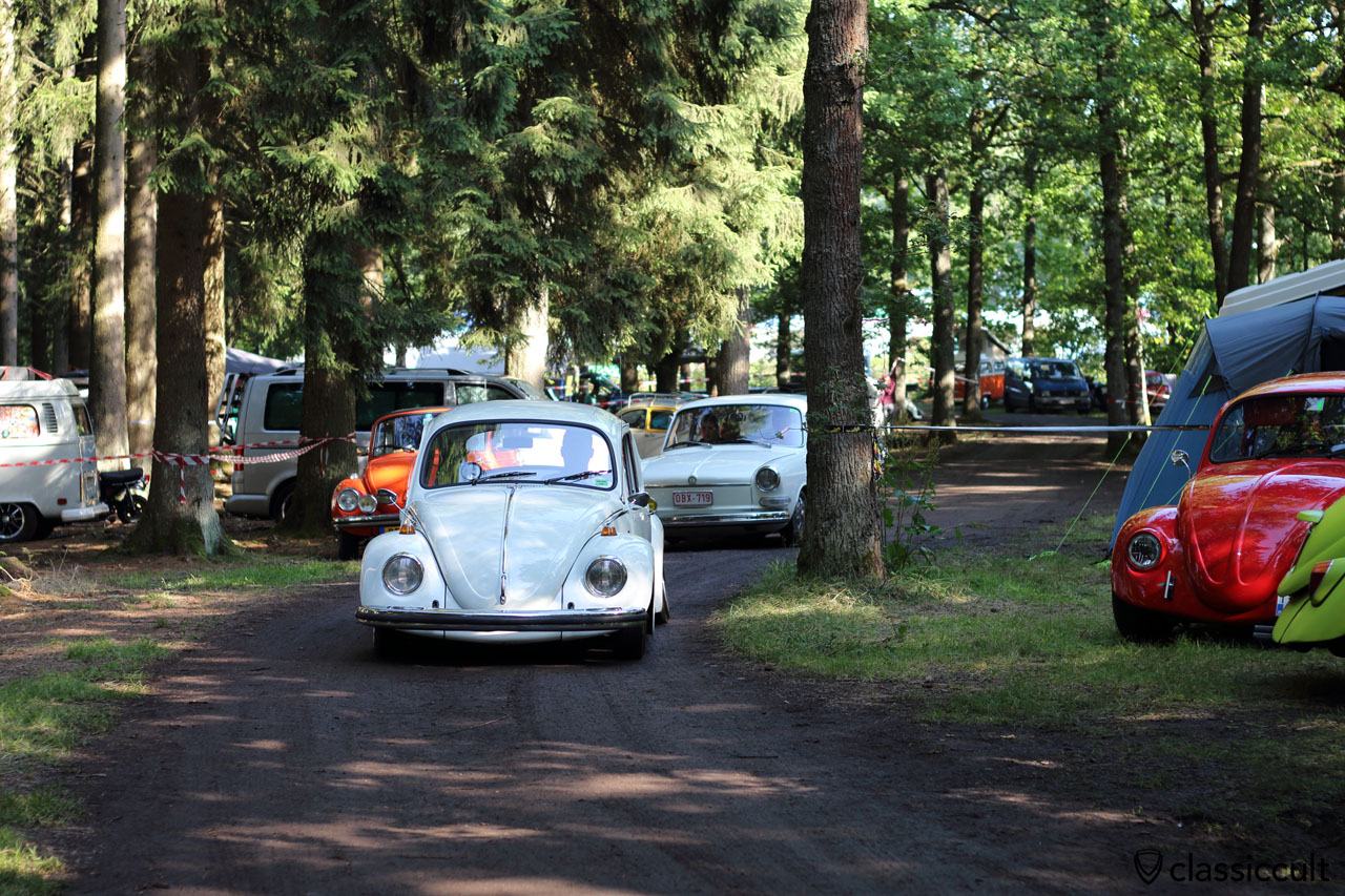 VW Bug and Type 3 on the way to show and shine, 9:26 a.m.