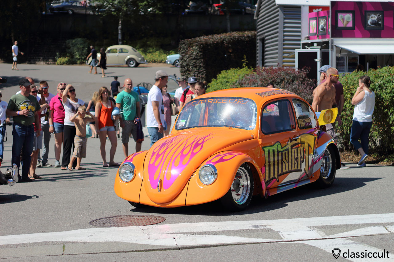 Mister T Race VW Beetle, had some engine problems