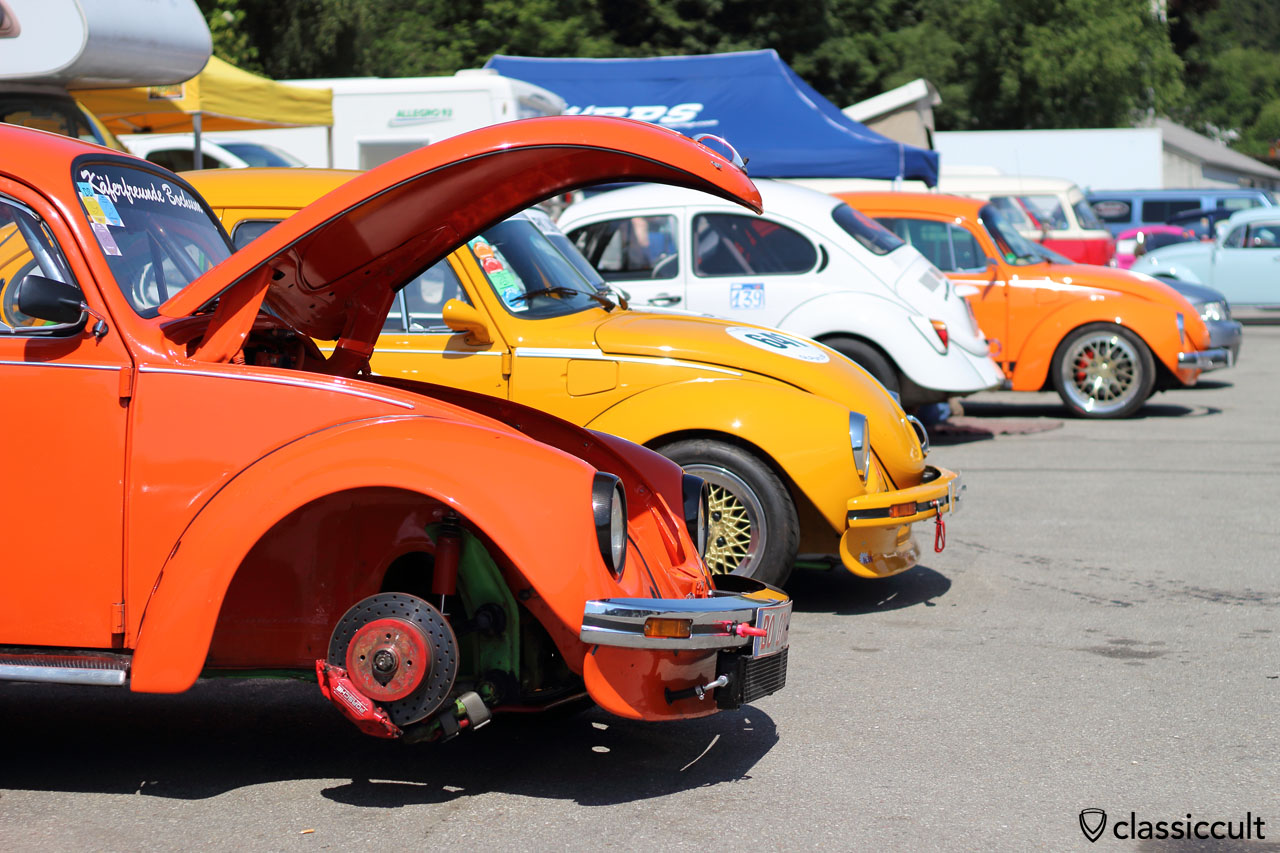VW Race Beetles checkup after Spa Race Track, 11:57 a.m.