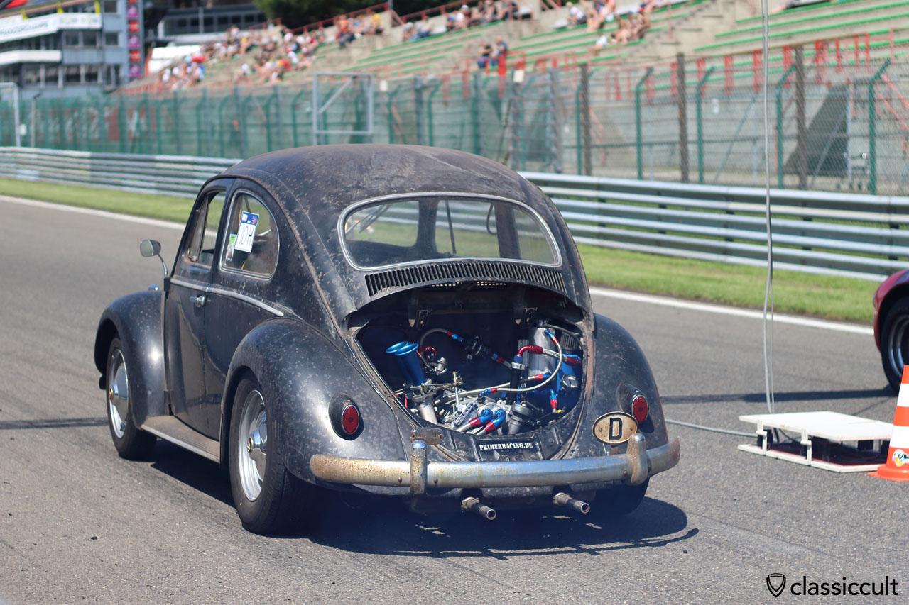 first paint patina from Sweden, now in Germany and a Race VW Bug with MAZDA Wankel engine with over 200 PS, primerracing.de