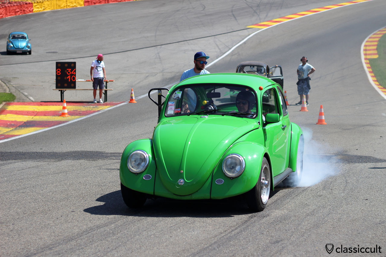 VW Beetle burnout