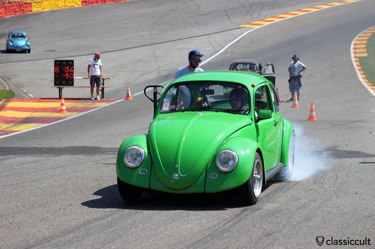 VW Beetle burnout