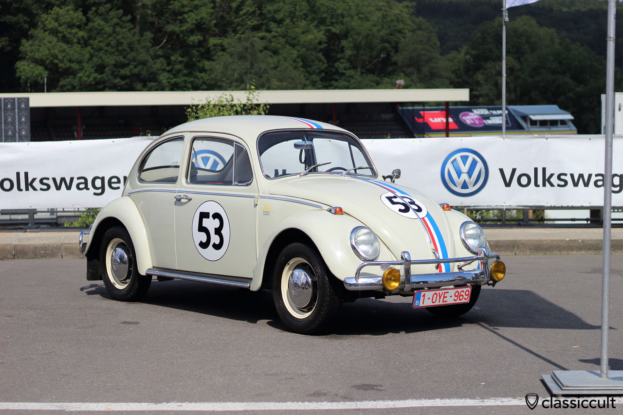 Herbie 53 at classic Volkswagen stand