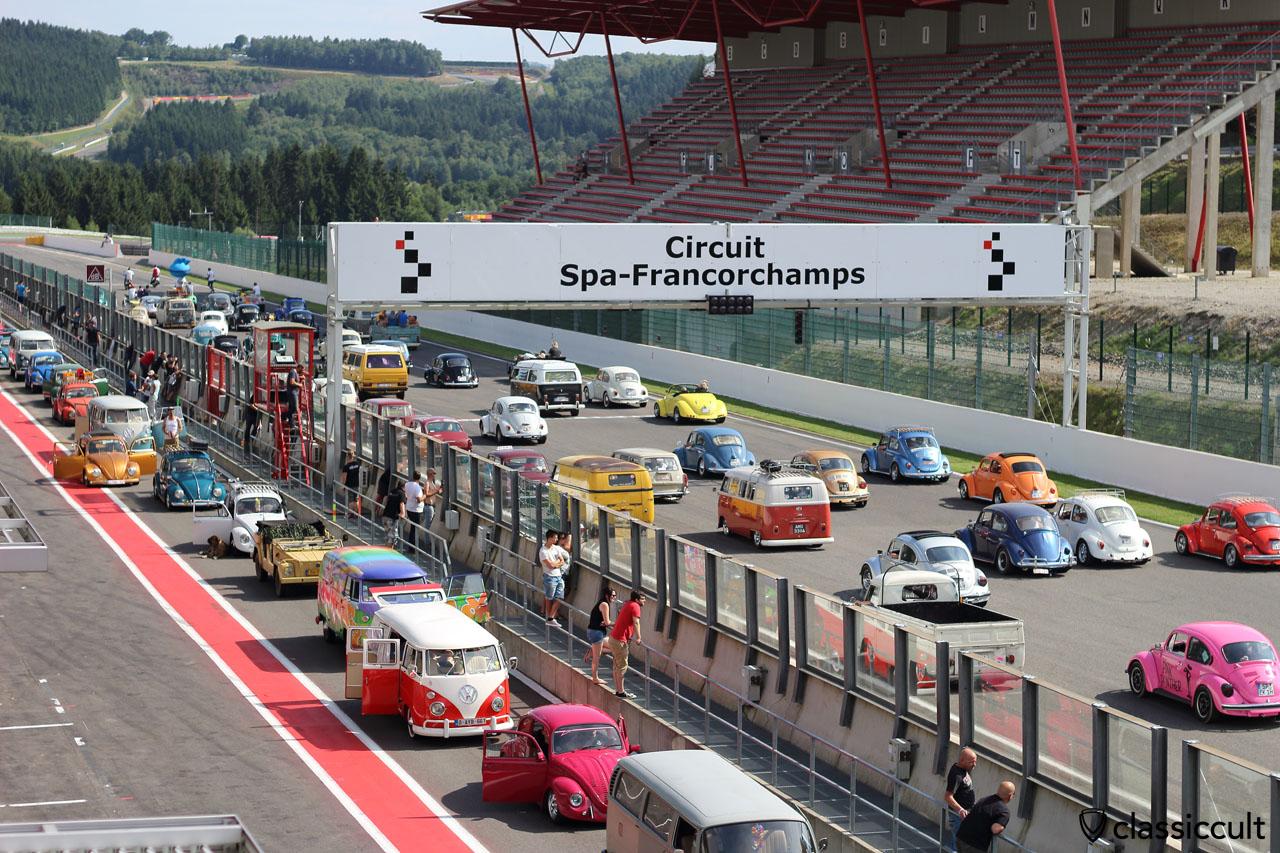 Bug Show 2015, Parade Circuit Spa-Francorchamps