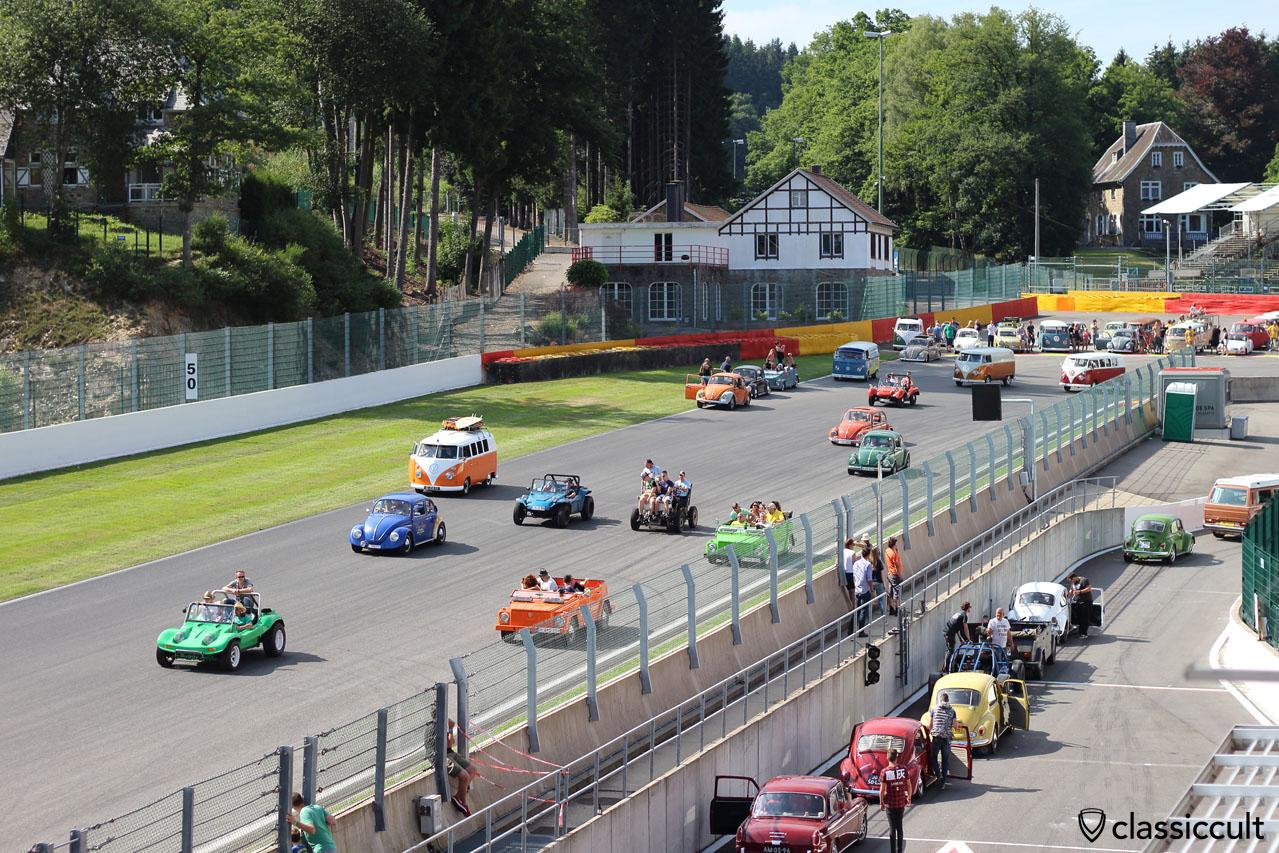 Aircooled Parade Circuit Spa-Francorchamps Bug Show 2015