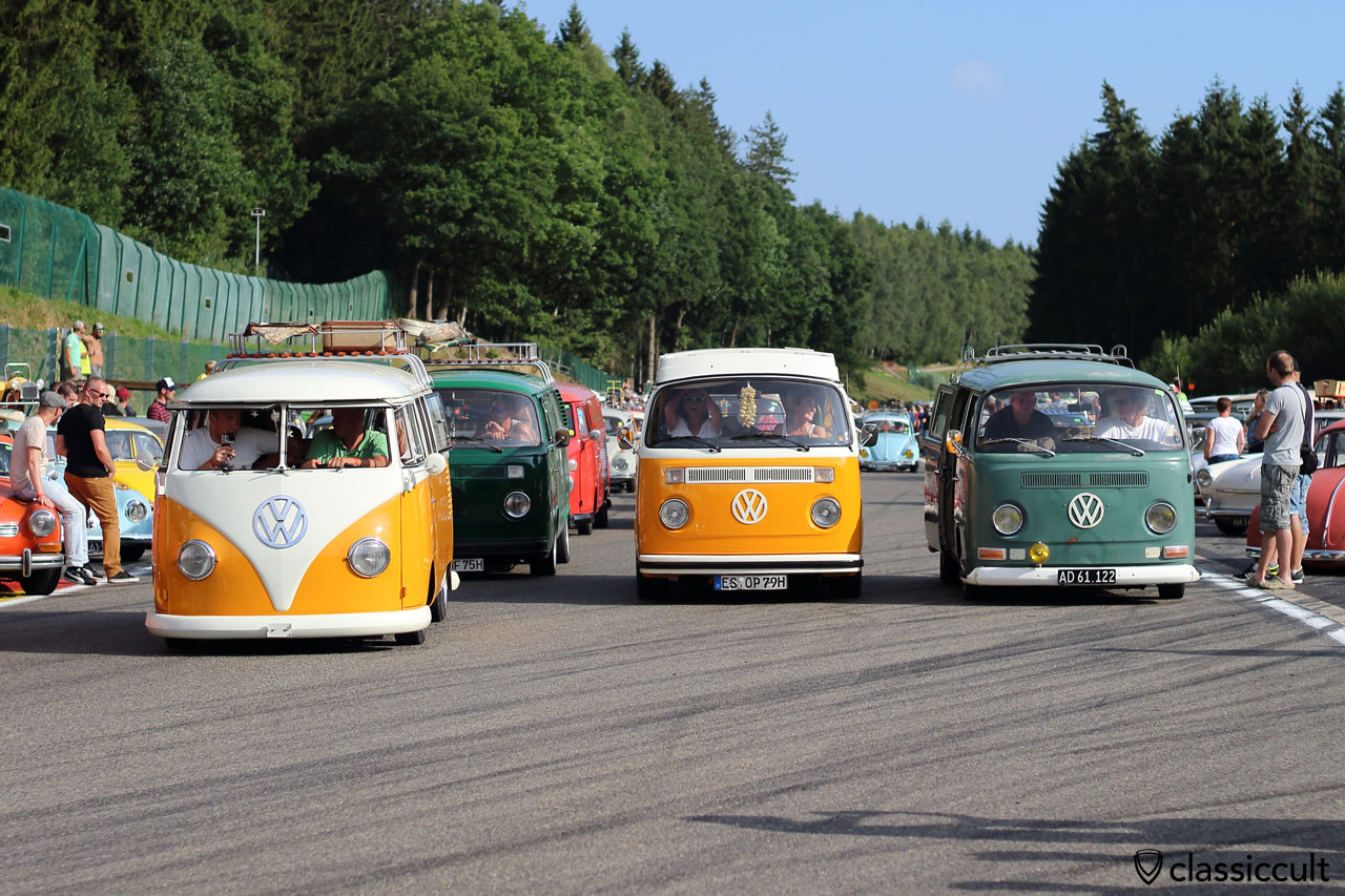 T1, T2b, T2a, BugShow Parade 2015