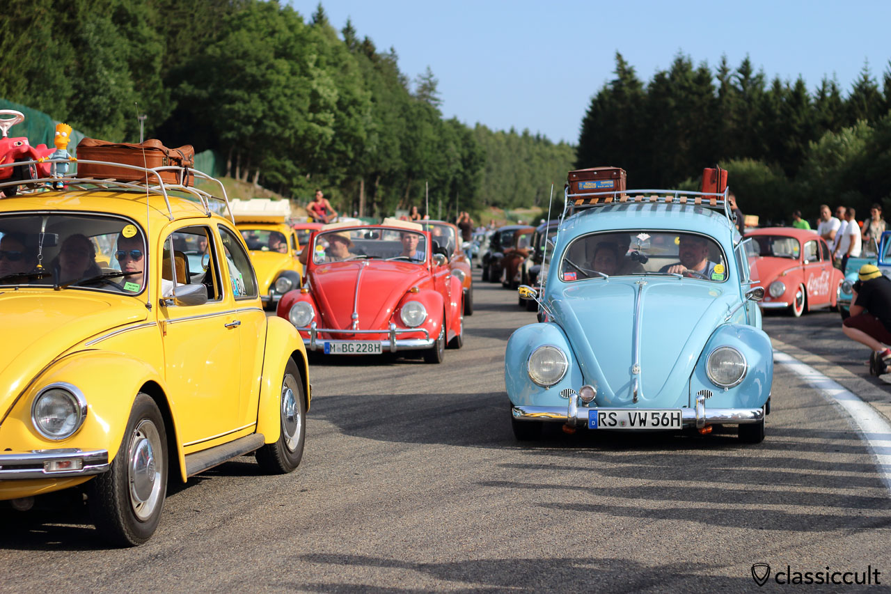 VW Beetles at Bug Show Grand Parade 2015