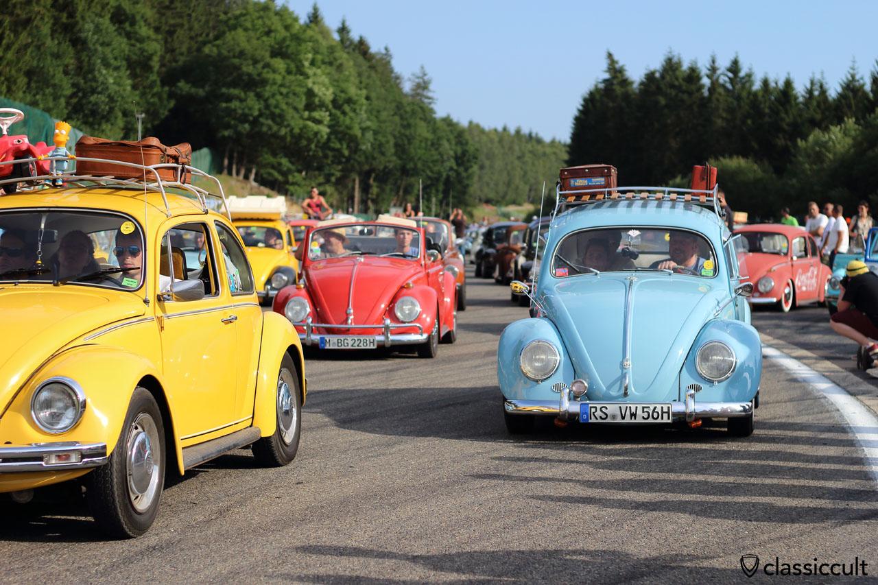 VW Beetles at Bug Show Grand Parade 2015