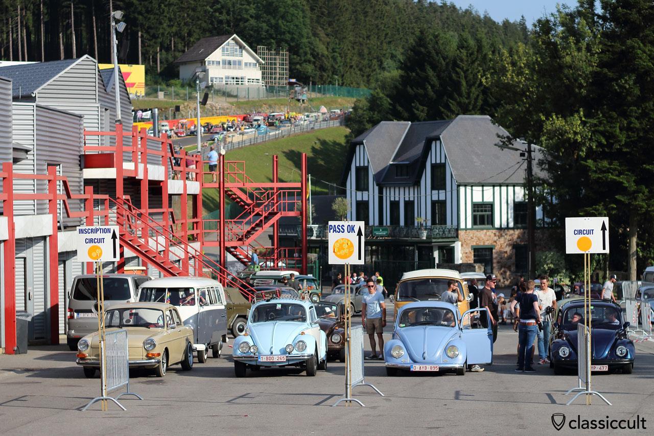 Classic VWs at Spa Paddock