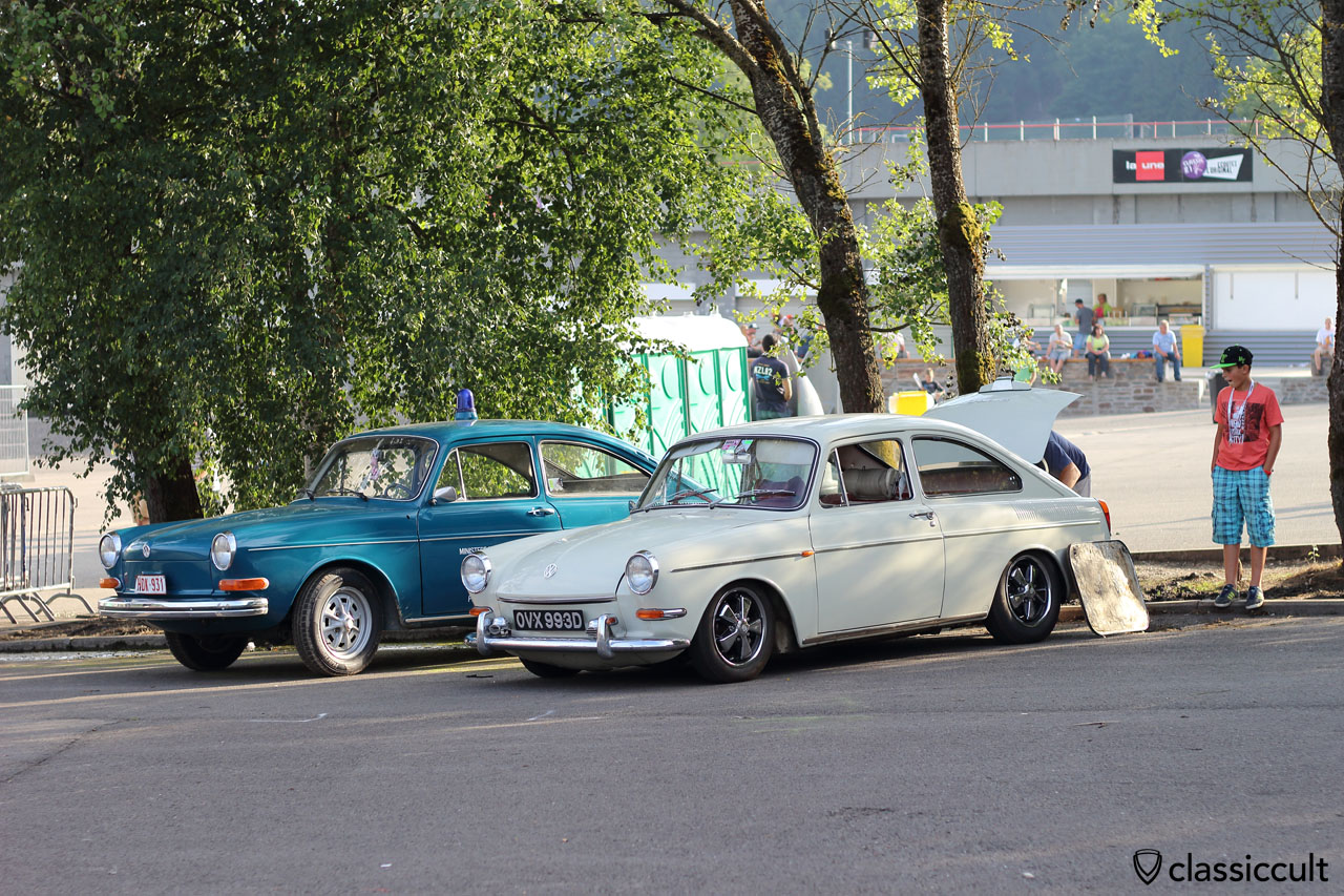 two VW Type 3 Fastback