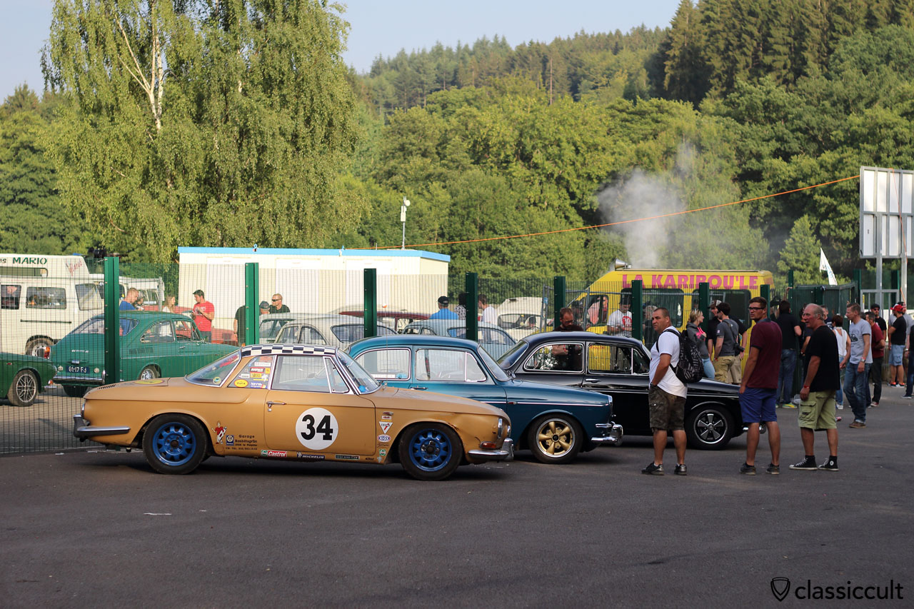 VW Karmann, Typ 34 and Type 3 meeting, near the Circuit entrance, Bug Show Spa 2015, 7:21 p.m.