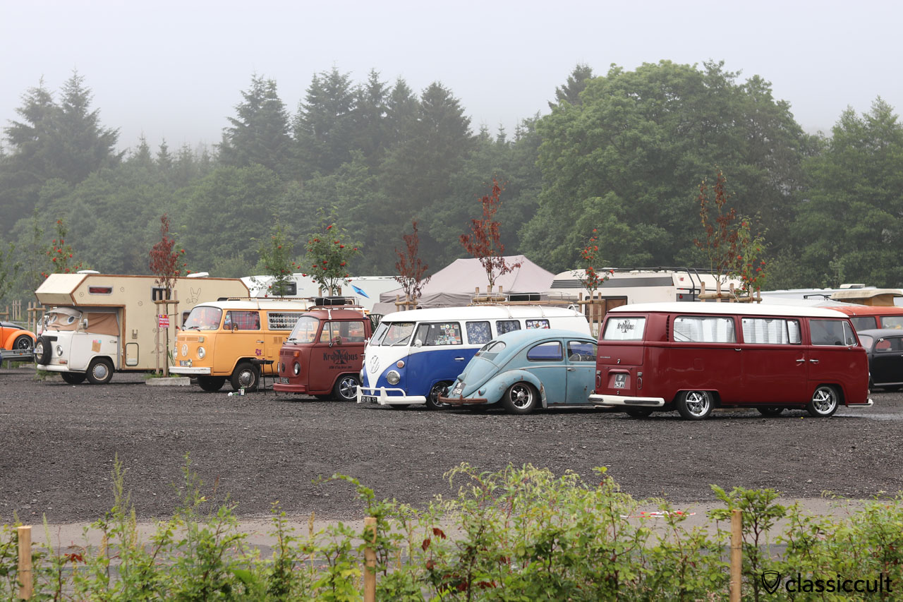 Bug Show, P1, no camping, new parking only, but some VW fans do not believe