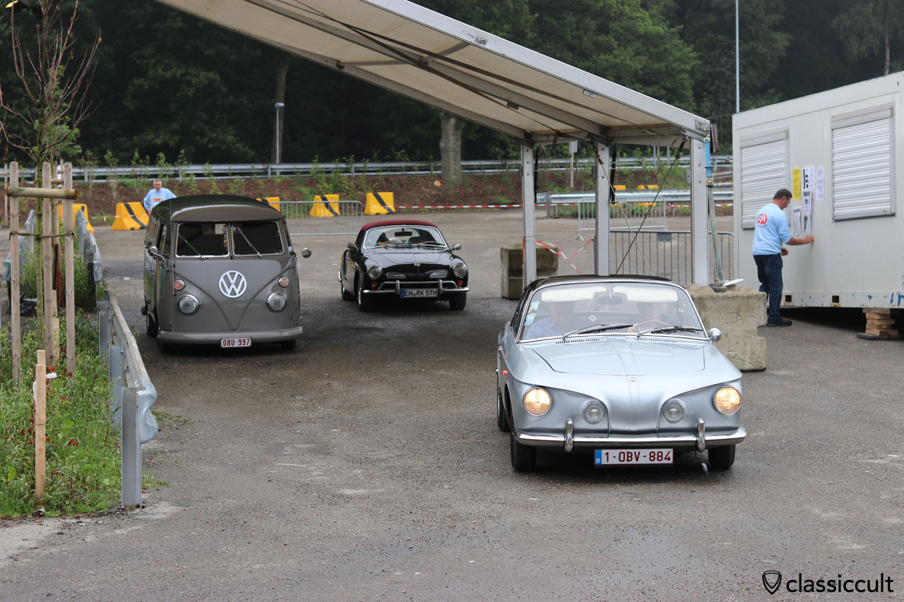 Karmann Ghia Type 34 from Belgium at the entrance