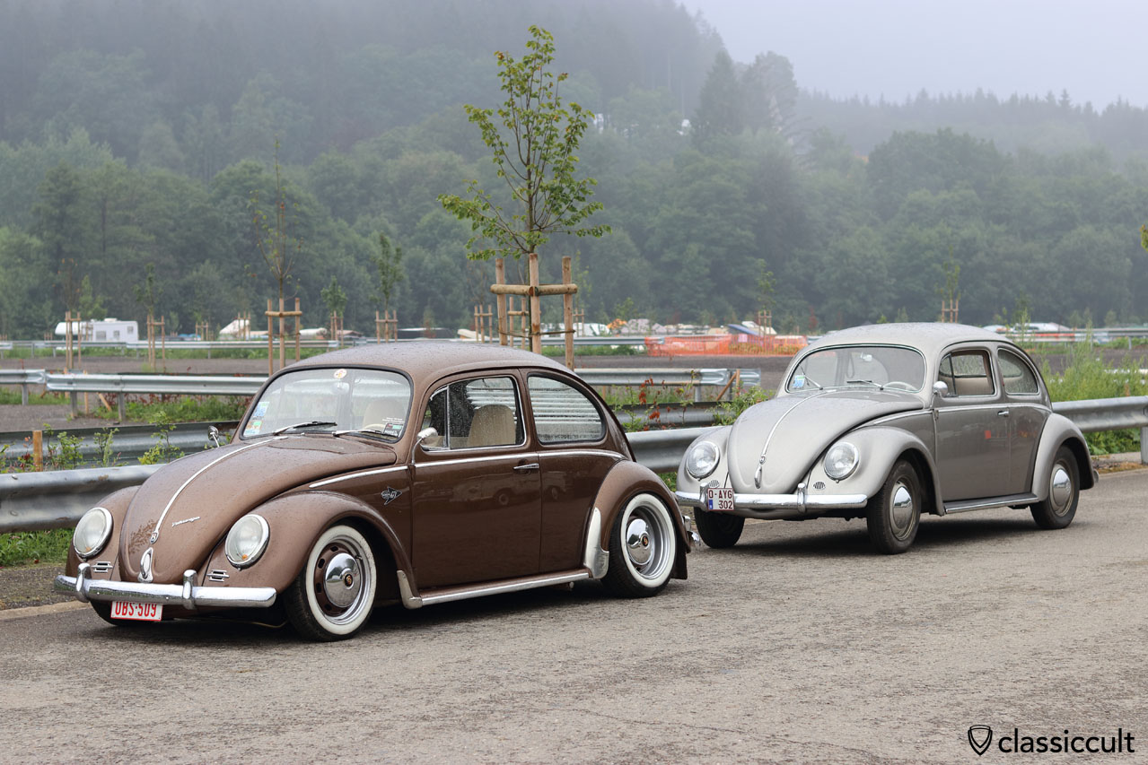 low Bug and original VW Oval