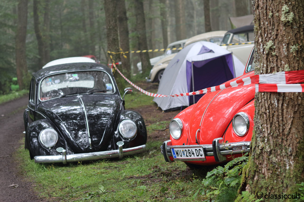 VW Beetles at Bug Show Spa Campground 2016