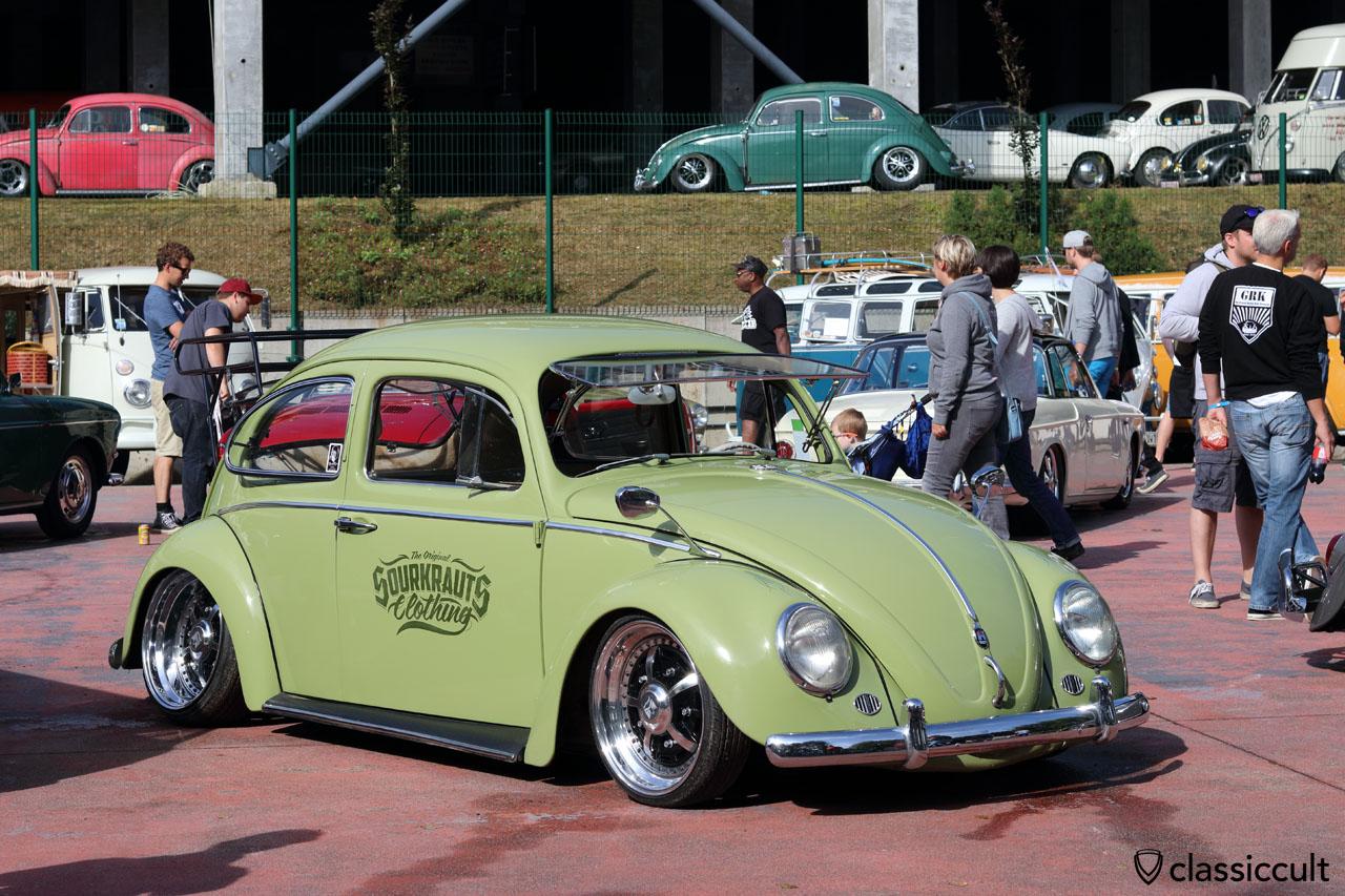 VW Bug with safari windows, Sourkrauts Clothing