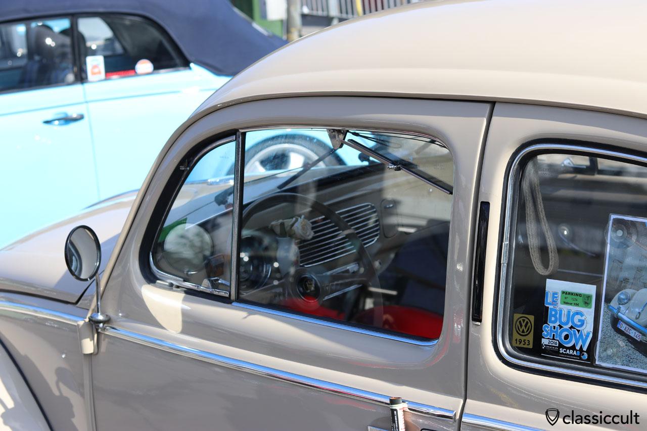 VW Oval Beetle with door window windshield wiper