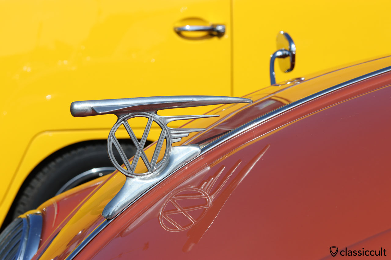 VW Oval with Australian Flying Hood Emblem, this looks like the French aluminium repro