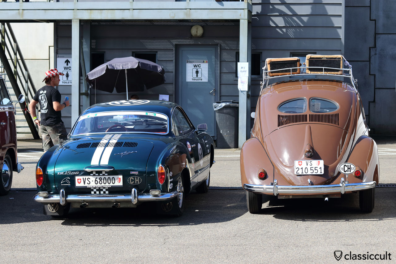 1951 Split Beetle and VW 1500 Ghia from CH