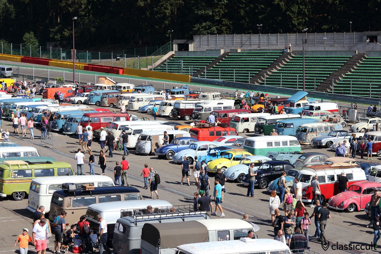 more than 2500 aircooled VW, Spa Bug Show 2016