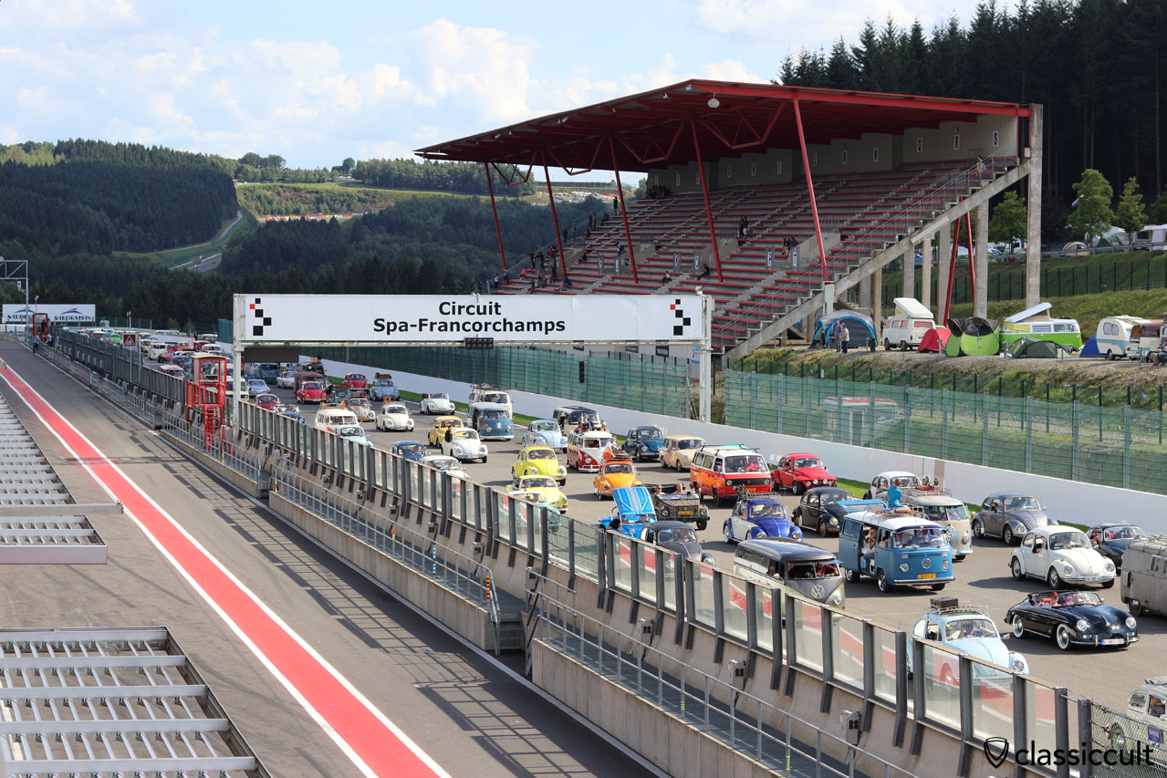 Bug Show Parade 2016, Circuit Spa-Francorchamps