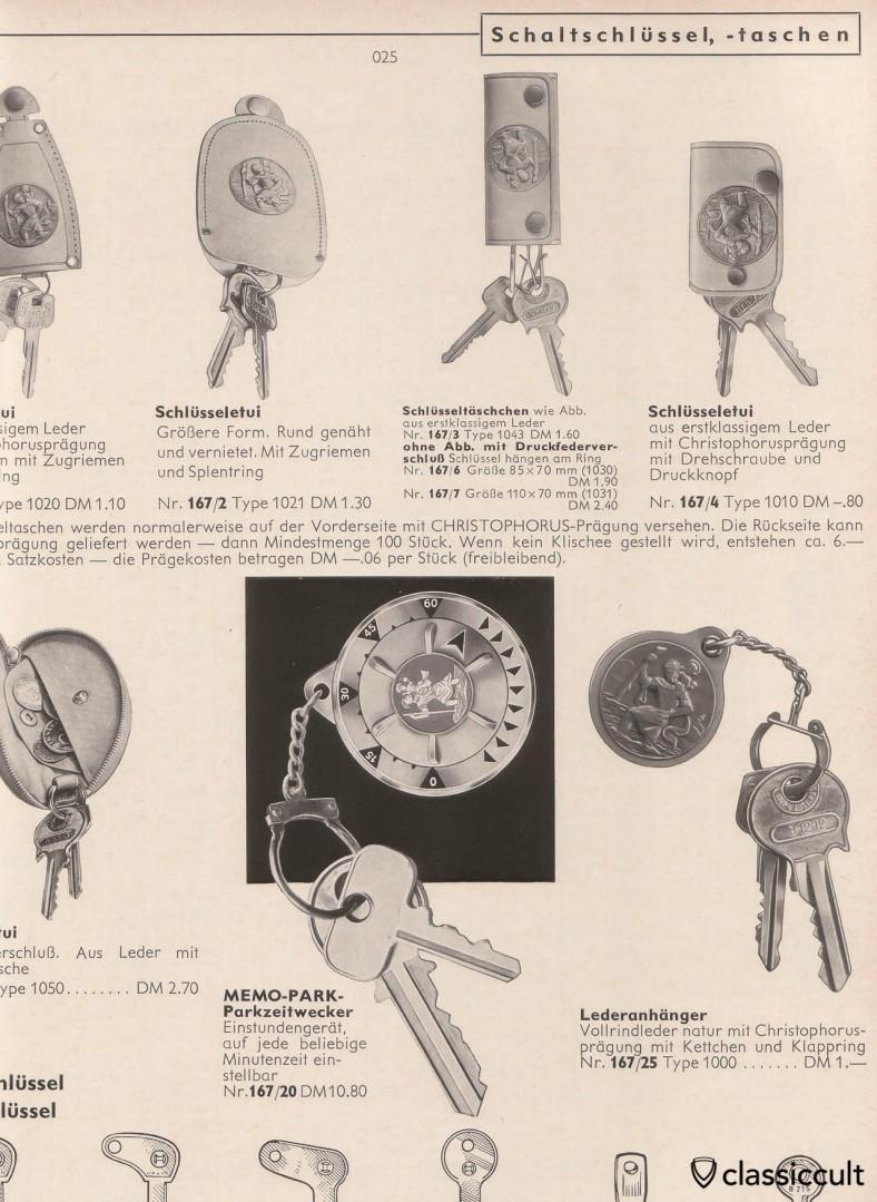 Christophorus Key Fob 1965