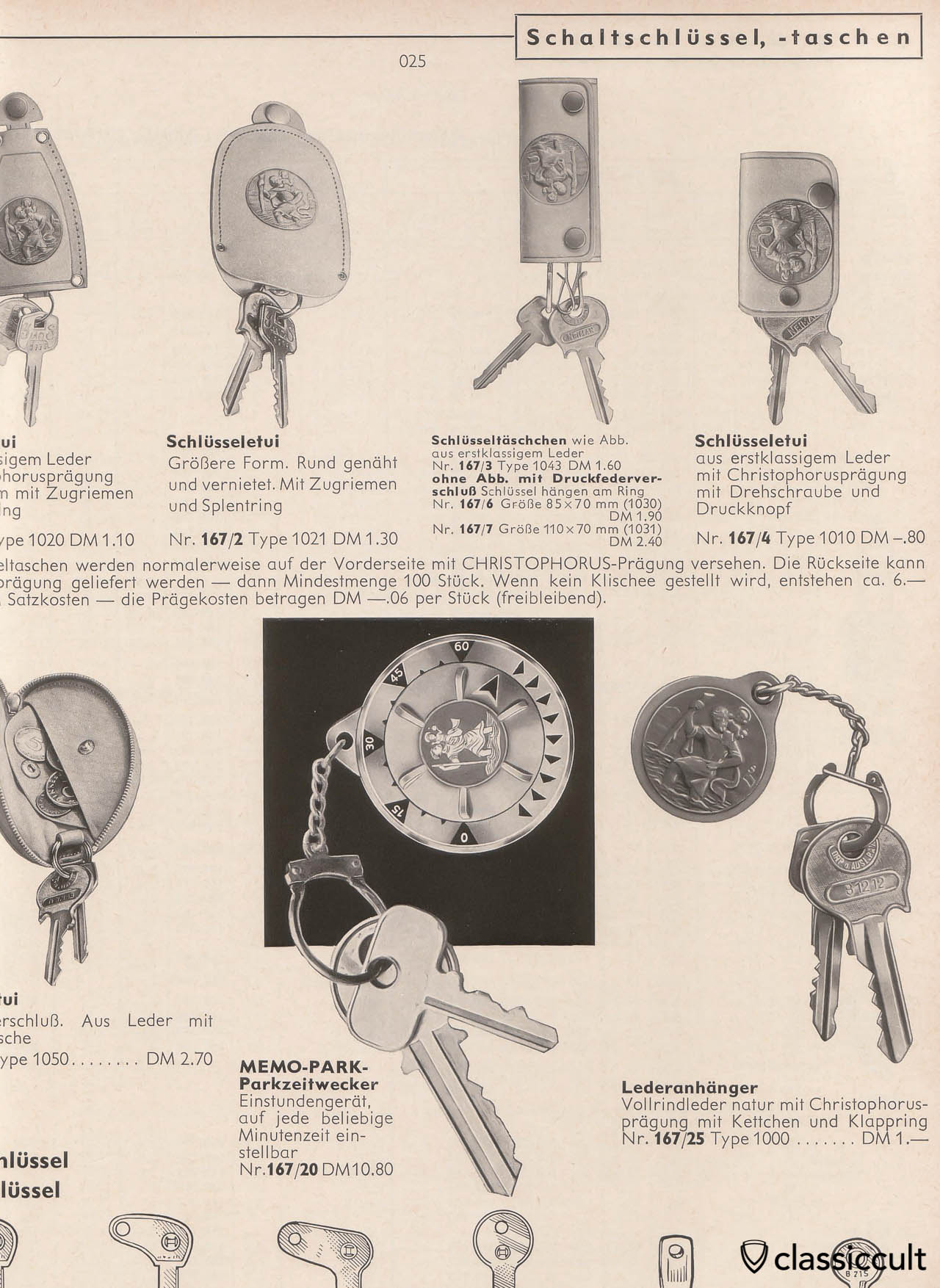 Christophorus Key Fob 1965