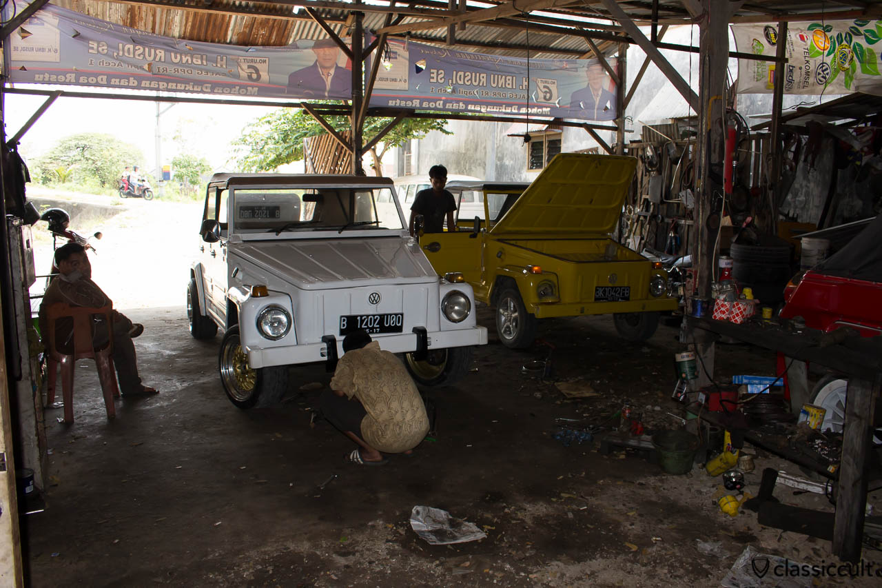Classic VW 181 Garage in Banda Aceh Indonesia