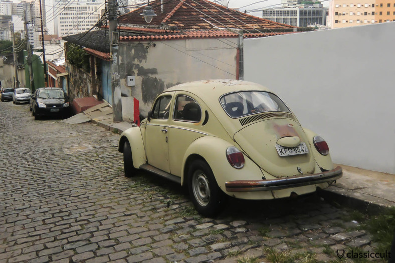 Classic VW Beetle backside, Centro, Rio, Brazil, May 23, 2013