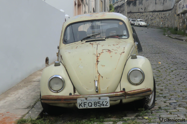 Classic VW Beetle frontside, Centro, Rio, Brazil, May 23, 2013