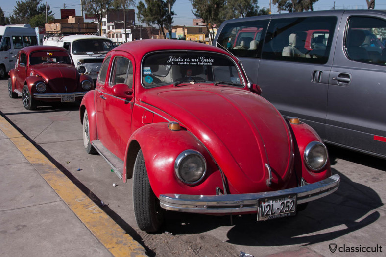 Classic VW Beetles in Arequipa, Peru, May 9, 2013