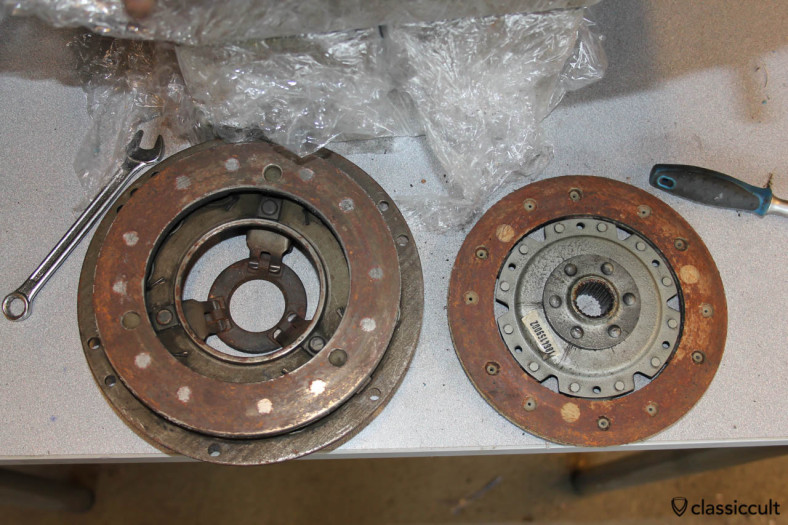 clutch cover, pressure disc and clutch disc