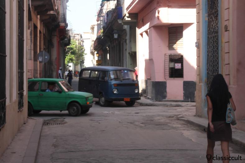 VW T2 Bus in Old Havana near Hotel Tejadillo, Cuba, March 28, 2014