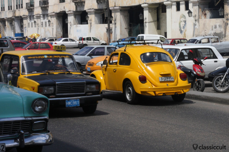 VW Beetle near El Museo del Ron Havana, Cuba, March 28, 2014