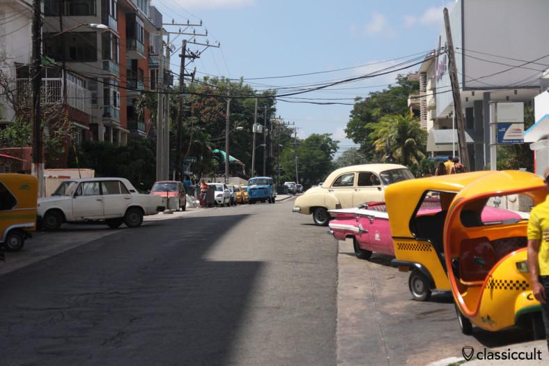 VW Bay Bus cruising towards the entrance of Hotel Nacional de Cuba March 29, 2014.
