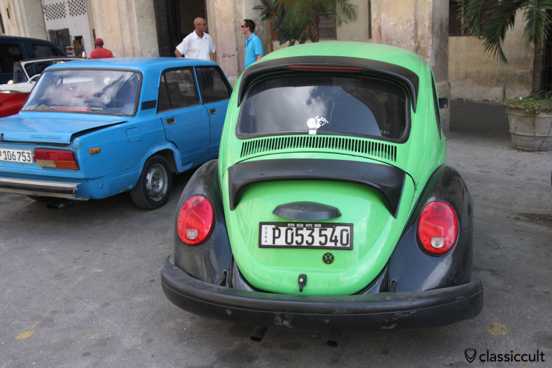 VW Beetle at Animas street near the Bacardi Building in Havana, Cuba, March 29, 2014.