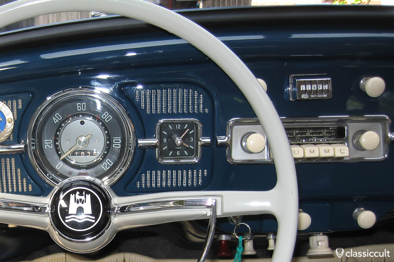 DBGM Chrome Kilometer Counter in my 1959 VW bug