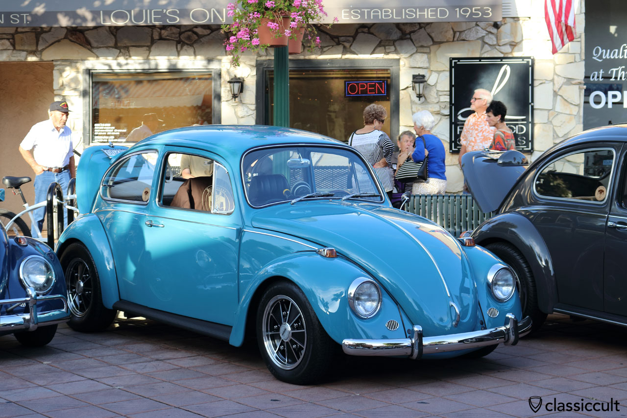 blue VW Bug with BRM Speedwell wheels