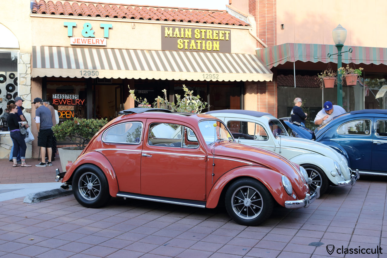 ragtop VW Beetle with BRM Speedwell wheels